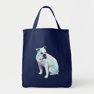 White Bulldog Tote Bag