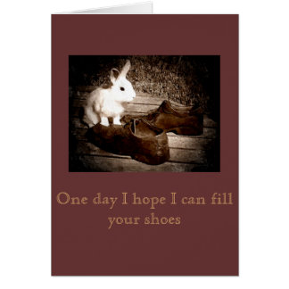 White Bunny and Shoes Father's Day Card