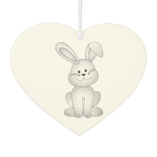 White bunny clipart car air freshener