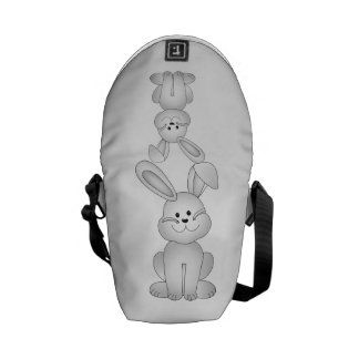 White bunny clipart commuter bags
