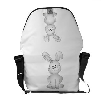 White bunny clipart courier bags