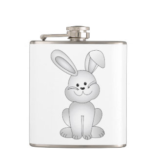 White bunny clipart hip flask