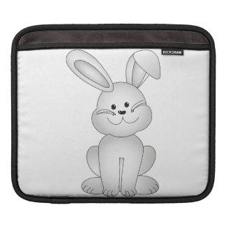 White bunny clipart iPad sleeve