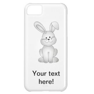 White bunny clipart iPhone 5C case