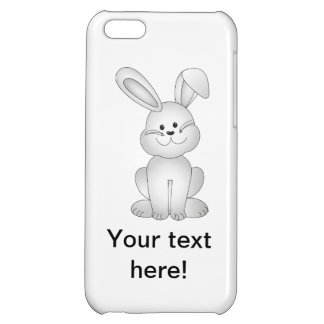 White bunny clipart iPhone 5C cover