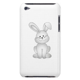White bunny clipart iPod Case-Mate case
