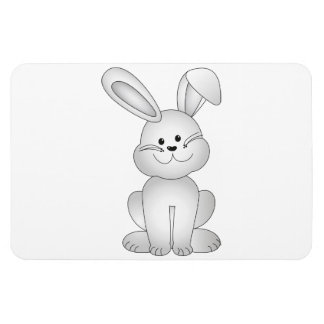 White bunny clipart magnet