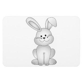 White bunny clipart rectangular photo magnet