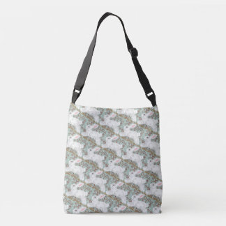White Bunny Rabbit Tote Green Christmas Easter