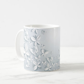 White Butterflies Mug