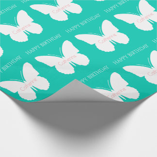 White Butterflies on Island Sea Personalized
