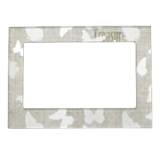 White Butterflies Treasure Magnetic Frame
