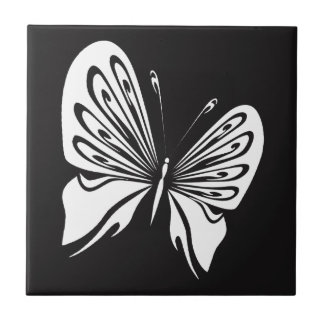 White Butterfly Ceramic Tile