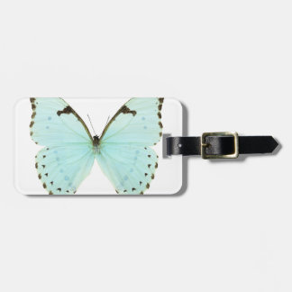White butterfly luggage tag