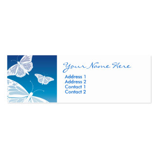 White Butterfly Skinny Cards Business Card