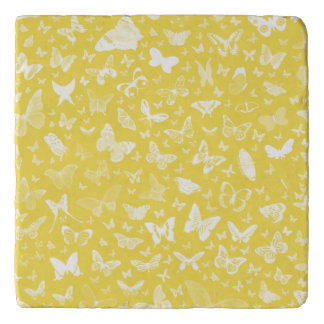 White Butterfly Trivet by Julie Everhart