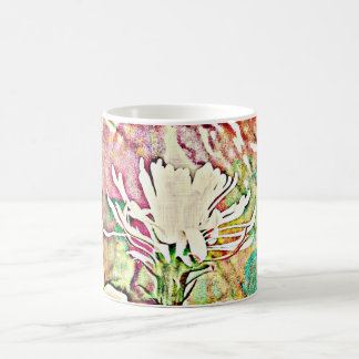 White Cactus Bloom in Chromatic Coffee Mug