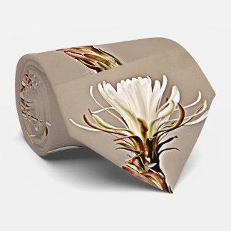 White Cactus Bloom Tie