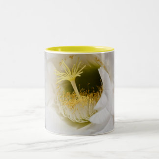 White Cactus Flower Coffee Mug