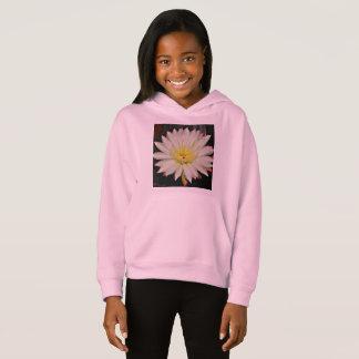 White Cactus Flower Girl's Fleece Hoodie