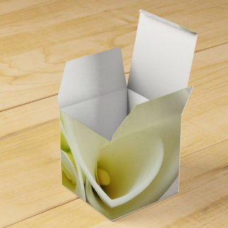White calla lilies from above wedding favor box wedding favour box