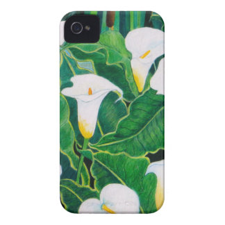 White Calla Lilies iPhone 4 Cases