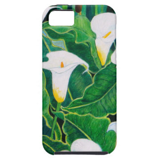White Calla Lilies iPhone 5 Case