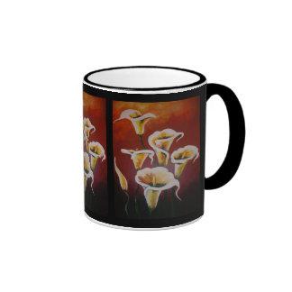 White Calla Lilies Mugs