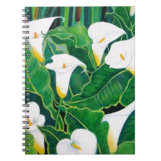 White Calla Lilies Notebook