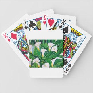 White Calla Lilies Poker Deck