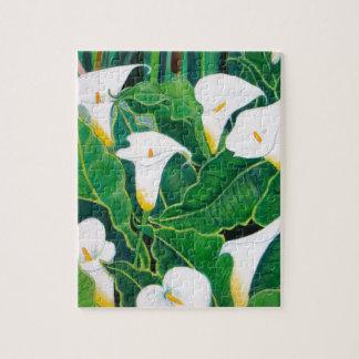 White Calla Lilies Puzzle