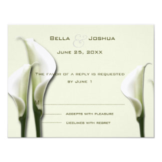White Calla Lillies RSVP Card