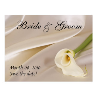 White Calla Lily-Save the Date Postcard