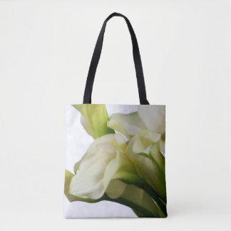 White Calla Lily Tote Bag  lk