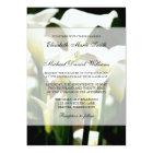 White Calla Lily Wedding Card
