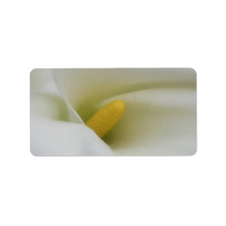 White Calla Lily Wedding or General Blank Address Label