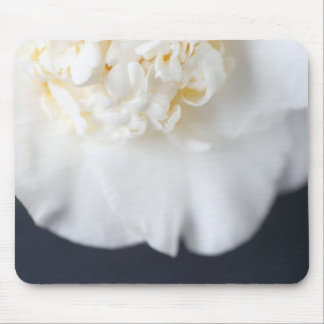 White camellia flower mouse pad