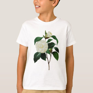 White Camellias by Pierre-Joseph Redoute T-Shirt