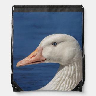 White Canadian Goose Drawstring Bag