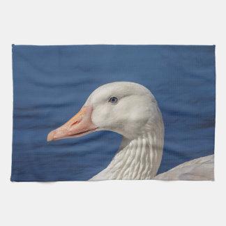 White Canadian Goose Tea Towel