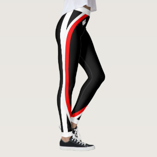 White Canadian Maple / Your Name on (Your Colour) Leggings