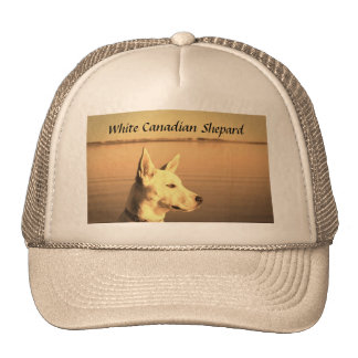 White Canadian Shepard Baseball Hat