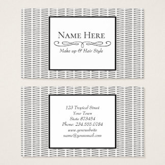 White cane wicker business card