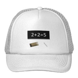 White cap 2+2=5 mesh hat