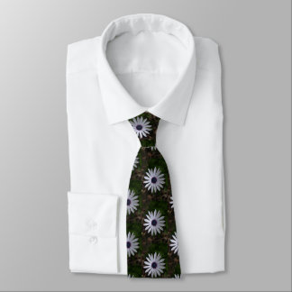 WHITE CAPE DAISY FLOWER Neck Tie