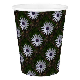 WHITE CAPE DAISY FLOWER Paper Cup