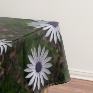 WHITE CAPE DAISY FLOWER Tablecloth