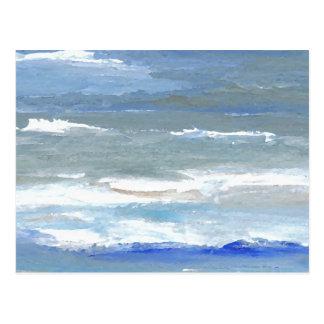 White Caps CricketDiane Ocean Waves Art Postcard