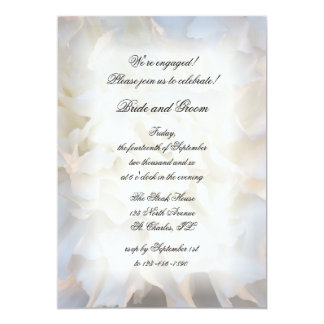 White Carnation Floral Engagement Party Invitation