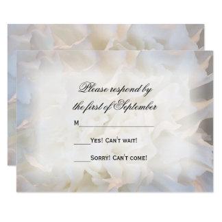 White Carnation Floral Wedding RSVP Response Card